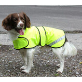 Cosipet Safety Hi Vis Waterproof Yellow Dog Coat