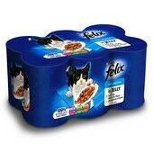 24 x Felix Can Mixed Variety Fish in Jelly 400g