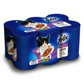 4 x Felix Can Mixed Variety Meat in Jelly 6x400g