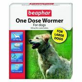 Beaphar One Dose Wormer for Dogs (4 Tablets)