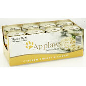 24 x Applaws Cat Can Chicken Breast & Cheese 70g