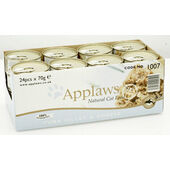 24 x Applaws Cat Can Tuna Fillet & Cheese 70g