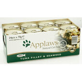 24 x Applaws Cat Can Tuna Fillet & Seaweed 70g