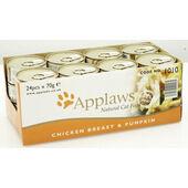 24 x Applaws Cat Can Chicken Breast & Pumpkin 70g