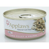 24 x Applaws Cat Can Tuna Fillet & Prawn 156g