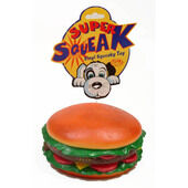 6 x Super Squeak Hamburger