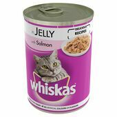 12 x Whiskas Can Jelly Salmon 390g