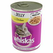 12 x Whiskas Can Jelly Chicken 390g