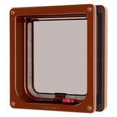 Cat Mate Lockable Cat Flap & Liner Brown 16.5x17.4cm