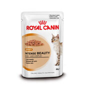 Royal Canin Intense Beauty Adult Cat Food Gravy Pouch 12 x 85g