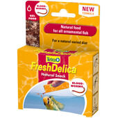 16 x Tetra Fresh Delica Bloodworms Fish Snacks