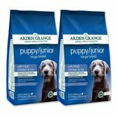 2 x 12kg Arden Grange Puppy/Junior Large Breed Chicken & Rice Dog Food Multibuy
