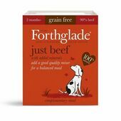 18 x 395g  Forthglade Natural Menu Beef Grain Free Wet Dog Food