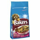 Bakers Complete Bacon & Liver Adult Dog Food With Meaty Chunks