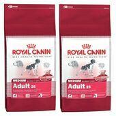 2 x 15kg Royal Canin Medium Adult 25 Multi Buy Dog Food