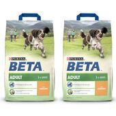 2 x 14kg Purina Beta Adult Chicken Dry Dog Food Multibuy