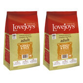 2 x 12kg Lovejoys Turkey & Rice Dry Adult Dog Food Multibuy