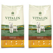 2 x 12kg Vitalin Sensitive Lamb & Rice Adult Dry Dog Food Multibuy
