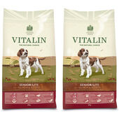 Vitalin Multi Buy Salmon & Potato Senior/Lite Dry Dog Food - 2 x 12kg