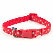 Ancol Nylon Adjustable Collar Vintage Red Polka