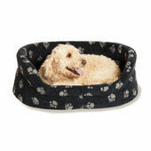 Danish Design Fleece Paw Navy Blue Slumber Dog Bed