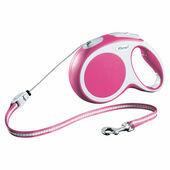 Flexi Vario Retractable Cord Lead Pink