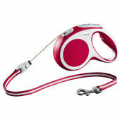 Flexi Vario Retractable Cord Lead Red
