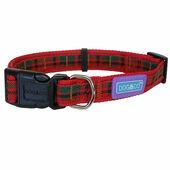 Dog & Co Tartan Adjustable Collar Red