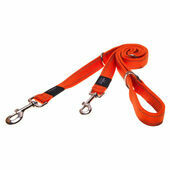 Rogz Lumberjack Reflective Nylon Multi Lead Orange 25mm X1.6m
