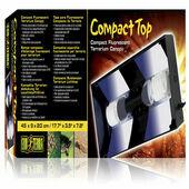 Exo Terra Compact Top Fluorescent Canopy Double 45cm