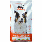 V-dog Vegetarian Traditional Flakes Vegan Adult Dog Food 15kg