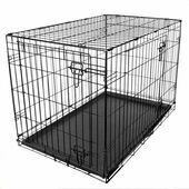 RAC Metal Fold Flat Crate Cage With Plastic Tray