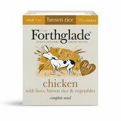18 x Forthglade Natural Lifestage Adult Chicken With Liver & Brown Rice 395g