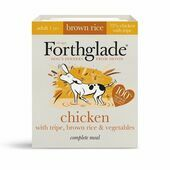 18 x Forthglade Natural Lifestage Adult Chicken With Tripe & Brown Rice 395g