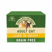 James Wellbeloved Grain Free Lamb Adult Wet Cat Food - 12 x 85g