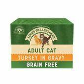 James Wellbeloved Grain Free Turkey Adult Wet Cat Food - 12 x 85g