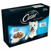 Cesar Pouch Senior 10+ Favourites in Jelly 8 Pack