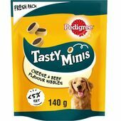 8 x 140g Pedigree Tasty Minis Cheese & Beef Nibbles Dog Treats