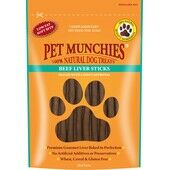 Pet Munchies Beef Liver Sticks Natural Dog Treats
