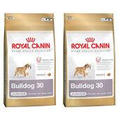 2 x 12kg - Royal Canin Multi-Buy Bulldog 30 Dry Puppy (Junior Dog) Food