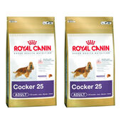 2 x 12kg Royal Canin Cocker 25 Dry Adult Dog Food