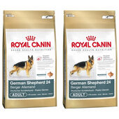 2 x 12kg Royal Canin German Shepherd 24 Dry Adult Dog Food