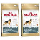 2 x 12kg Royal Canin German Shepherd 24 Dry Adult Dog Food