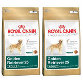 2 x 12kg Royal Canin Golden Retriever 25 Dry Adult Dog Food
