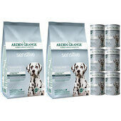 Arden Grange Sensitive Fish & Potato Wet & Dry Dog Food Bundle