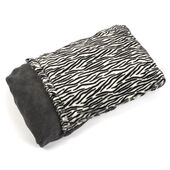 Snuggle Puppy Fleece Pocket Bed Zebra Print 68 X 48cm
