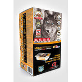 27 x 210g Alpha Spirit Multi-Protein Complete 85% Fresh Meat & Fish Wet Dog Food