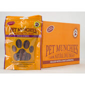 8 x Pet Munchies Duck Strips Natural Dog Treats 90g