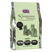 Simpsons Premium 90/10 Chicken, Fish & Turkey Adult Cat Food - 1.5kg