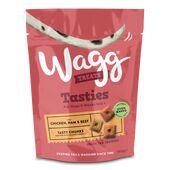 7 x 150g Wagg Tasty Chunks Chicken, Ham & Beef Dog Treats